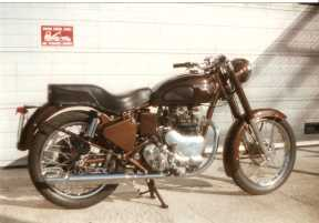 In the end we made more than a little use of Madras tin-ware for the rebuild of this 1954 Royal Enfield Super Meteor
