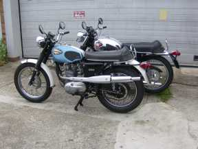 My personal BSA stable: 1970 Starfire,  1967 Lightning