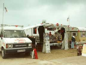 Open for business in the paddock at Snetterton